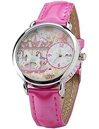 ufengke® lässig mini handgefertigten fimo-dame frauen mädchen handgelenk armbanduhren-karussells zifferblatt-design