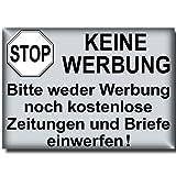 10 Stück Stop Bitte keine Werbung kostenlose Zeitungen Briefe einwerfen Aufkleber Sticker Hinweis Briefkasten