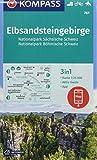 KOMPASS Wanderkarte Elbsandsteingebirge, Nationalpark Sächsische Schweiz, Nationalpark Böhmische Schweiz: 3in1 Wanderkarte 1:25000 mit Aktiv Guide ... Reiten. (KOMPASS-Wanderkarten, Band 761) -
