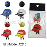 Novelty Magnetic Golf Ball Marker on Hat Clip Red Cap