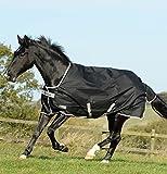 Bucas Anniversary Turnout Light - Black/Silver - Weidedecke - Regendecke, Größe (cm):120 cm