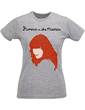 Camiseta Mujer Slim Florence And The Machine Red Artwork - Maglietta 100% algodòn ring spun LaMAGLIERIA