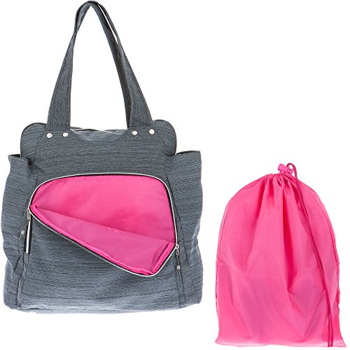 ALESSANDRO Shopper Sporttasche XL WORKOUT BAG Gym Bag 12315 (Grau (Innen: Grün)) Grau (Innen: Pink)