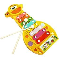 zolimx Instrumento musical, 8 notas xilófono juguete desarrollo de sabiduría