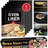 Groß- und Ofen Liners Set von 5–zertifiziert frei von BPA und PFOA frei hitzebeständig bis zu 500F Heavy Duty wiederverwendbar Cut to Fit Nicht Stick Liner Blatt für Ofen Racks 59,7x 40,6cm von Yul