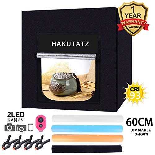 HAKUTATZ Lichtwürfel LED Profi Fotografie Lichtzelt (60cm)