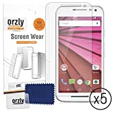Orzly® - 5 x Display-Schutzfolien für MOTOROLA MOTO G (Gen 3 Version) SmartPhone / Handy (2015 Modell) - MULTI PACK of 5 Transparent Screen Protectors