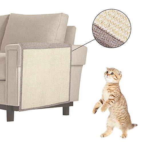 Urijk Sisal Kratzmatte Haustier Katze Sisalteppich Kratzbrett Matte Sisal Katzenteppich Kratzteppich Sofaschoner geeignet für Sofa Sessel Stuhl Boden