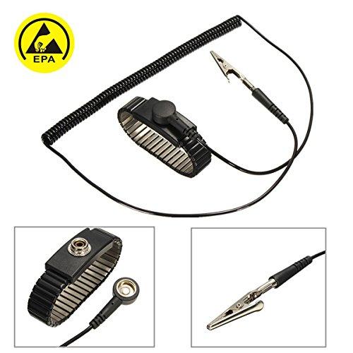 MASUNN Antistatische Esd Verstellbare Handgelenkschlaufe Entladungsband Ground Metal Armband