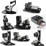 UniqStore mini torno gran potencia electrochapada mini metal 6 en 1 kit de bricolaje para hobby Model Maker