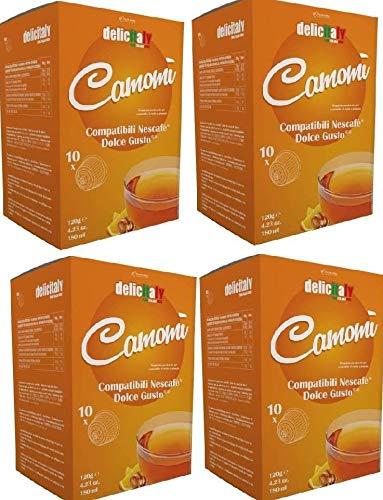 Manzanilla con Miel y Naranja 40 Cápsulas Compatibles Dolce Gusto Infusiones