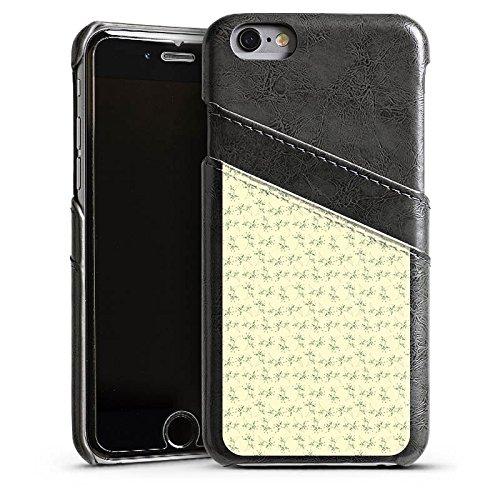 Apple iPhone 4 Housse Étui Silicone Coque Protection Fleurs Fleurs Motif Étui en cuir gris