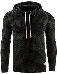Minetom Herren Herbst Casual Mode Sport Slim Fit Sweatshirt Kordelzug  Hoodie Sweatjacke Jacke Kapuzenpullover Tops Pullover 4b25038bcf