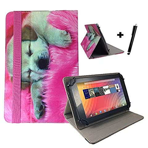 Medion Lifetab P10356 MD 99632 Motiv Tablet Pc Hülle Tasche mit Standfunktion - 10.1 Zoll Hund