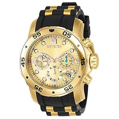 Invicta 17884 Pro Diver Reloj para Hombre acero inoxidable Cuarzo Esfera oro de Invicta