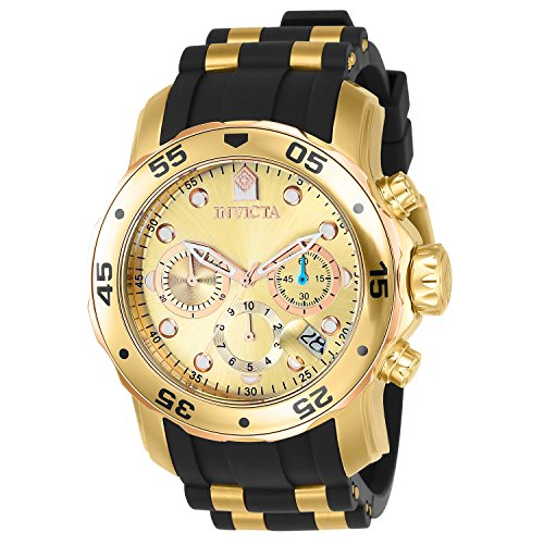 Invicta 17884 Pro Diver - Scuba Men's Wrist Watch Stainless Steel Quartz Gold Dial