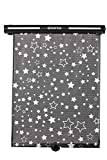 Diono Starry Night Sun Shade, Child Window Shade with Glow-in-The-Dark Stars, Black