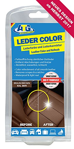 ATG Leder-Color Lederfarbe inkl. Schwamm - beseitigt Kratzer, Abschürfungen und Abnutzungen auf...