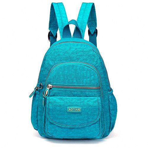 Rucksack Geldbörse Für Frauen Kleiner (AOTIAN Mini Rucksack Für Mädchen Und Damen Leichtgewicht Kleine Lässiger Daypacks Tasche 7 Liter Türkis)