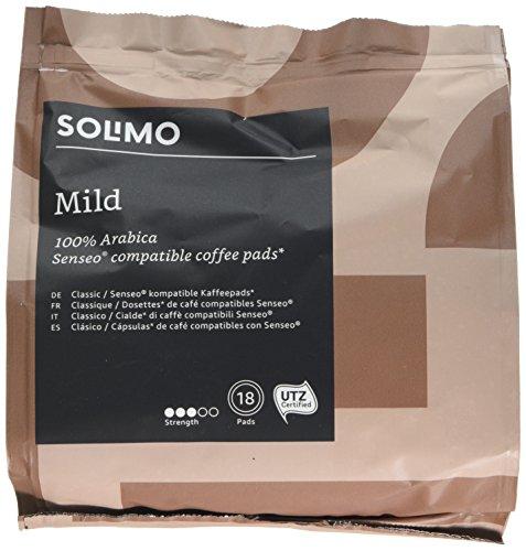 Marca Amazon- Solimo Cápsulas Mild, compatibles con Senseo*- café ce