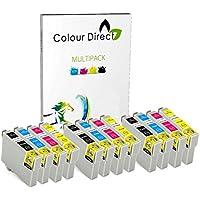 12 ( 3 Sets ) Colour Direct Compatible Ink Cartridges T0715 - Replacement For EPSON STYLUS S20, SX100, SX105, SX110, SX115, SX200, SX205, SX210, SX215, SX218, SX400, SX405, SX410, SX415, SX510W, SX515W, SX600FW, SX610FW, BX300F, BX3450, CX4300, S21, D120, D5050, D78, D92, DX400, DX4000, DX4050, DX4400, DX4450, DX5000, DX5050, DX6000, DX6050, DX7450, DX8450, DX7000F, DX7400, DX8400, DX8450, DX9400, DX9400F, BX310FN Printers