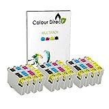 12 XL Colour Direct kompatibel Druckerpatronen Ersatz für EPSON STYLUS S20, SX100, SX105, SX110, SX115, SX200, SX205, SX210, SX215, SX218, SX400, SX405, SX410, SX415, SX515W, SX600FW, SX610FW, BX300F, S21, SX110, SX115, SX215, SX410, SX415, SX515W, SX209, SX405 WiFi, D78, D92, D120, DX4000, DX4050, DX4400, DX4450, DX5000, DX5050, DX6000, DX6050, DX7450. DX8450, DX7000F, DX7400, DX8400 Drucker