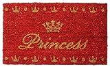 1art1 76037 Prinzessinnen - Crown, Retro Style Fußmatte Türmatte 70 x 40 cm