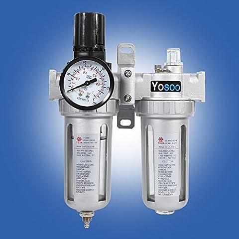 """1/4"""" Druckluft Wasserabscheider Öler Druckminderer Druckregler für kompressor wartungseinheit"""