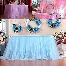 TAOtTAO - 1 falda de mesa para cumpleaños, bodas, fiestas y decoraciones de mesa