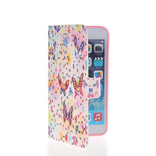 MOONCASE Coque en Cuir Portefeuille Housse de Protection Étui à rabat Case pour Apple iPhone 6 Plus A17787