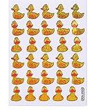 b2see Sticker Bogen Quietsche Enten Kinder Aufkleber Sticker für Kinder Zum aufkleben dekorieren 2 Stück