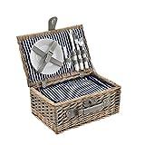 [casa.pro]® Picknickkorb für 2 Personen - Picknick-Set mit Kühltasche inkl.