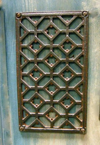 Antikas - Ofen Luftgitter, Lüftungsgitter für Kamine, Warmluft Kamingitter S