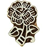 Timbres Brown Floral Timbre Bloc Bois Art Handcarved impression Bloquer indienne Textile