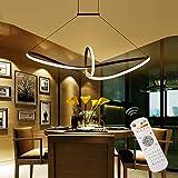 Homeny 48W LED Pendelleuchte Esstisch Hängelampe Pendellampe Kronleuchter Wohnzimmer Küche Pendel Moderne Aluminiu Hängeleuchte Pendellänge maximum 120 cm und höhenverstellbar Acryl (Dimmbar)
