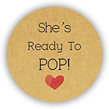 48x Liebe Herz Baby Shower Shes Ready To Pop Stickers Popcorn Tuten