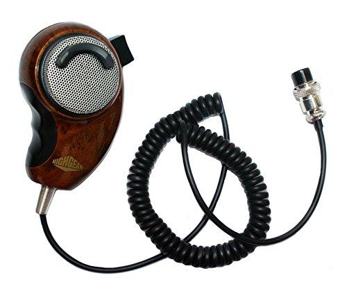 sundely® Wood Grain Noise Cancelling PDA/Hand Schulter Mikrofon Lautsprecher für Cobra Uniden Midland CB Ham Radio Pin hg-m84W
