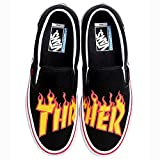 Vans Zapatillas Slip-On Pro (Thrasher) Negro/Amarillo/Rojo Talla: 36