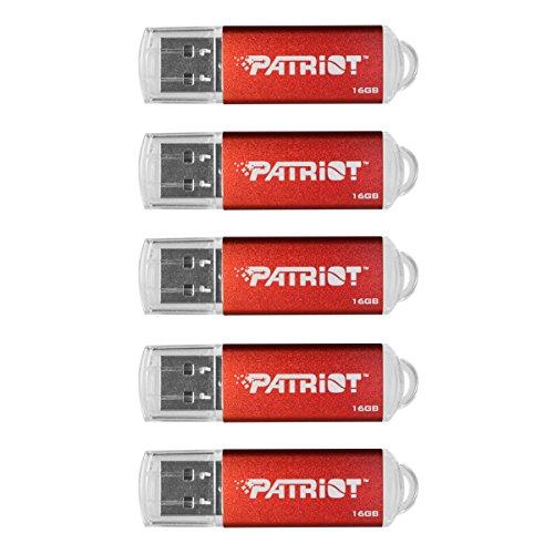 Direct 2 Drive (Patriot Memory Pulse Serie USB 2.0Flash Drive, 5Stück rot 16GB Pulse 5-Pack)