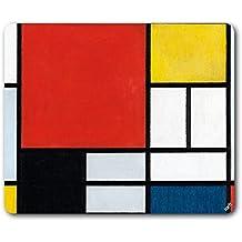 /Zusammensetzung mit gro/ßen Rot Flugzeug/ Mondrian/ /Kuppel Glas Briefbeschwerer