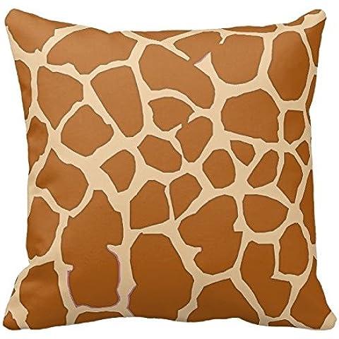 Brown and Khaki Giraffe Animal Print Zippered