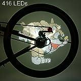 Fahrrad Radfahren Sicherheit Licht Programmierbare Comic und Animation 16 Millionen Farbe 416 LEDs