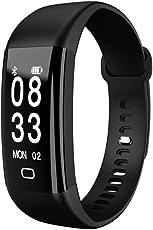 samLIKE 丨 F09 Smart Watch 丨 Blutdruck Sauerstoff Herzfrequenzmesser 丨 Fitness Tracker 丨 IP68 Wasserdicht (Tiefe 30M) 丨 für IOS 7.1 ✚ andorid 4.4 und höher 丨 16mm x 266mm(Max)