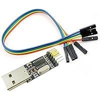 Aihasd USB a TTL UART Módulo CH340G CH340 3,3V 5V serial Interruptor del convertidor módulo En lugar de CP2102 PL2303 with 6P cable