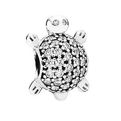 Pandora Damen-Bead Meeres-Schildkröte 925 Zirkonia silber – 791538CZ