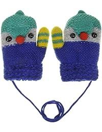 Moufle enfants Gants tricoté en Cachmire Gants unisexe en Laine Gants de Ski en Jaquard avec doublure plus épais Gants Pingouin Chaud pour bébé de 3-8 ans