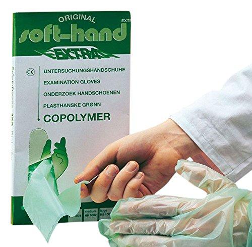 Gants de main H9 1001 Copolymère Extra Doux, S (Lot de 100)