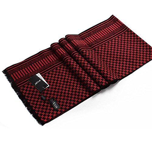 Warmpalm Foulards, Foulards pour hommes Soie Tissu peigné 30X180cm ( couleur : 4# ) # 3