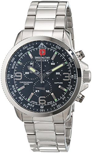 Swiss-Military-Mens-Quartz-Watch-with-Blue-Dial-Analogue-Display-and-Stainless-Steel-Bracelet