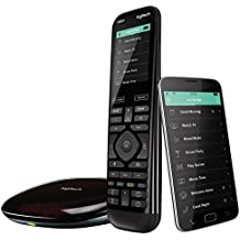 Logitech Harmony Elite Advanced TV and Home Entertainment Remote Control, Hub and App, Works with Alexa, Black